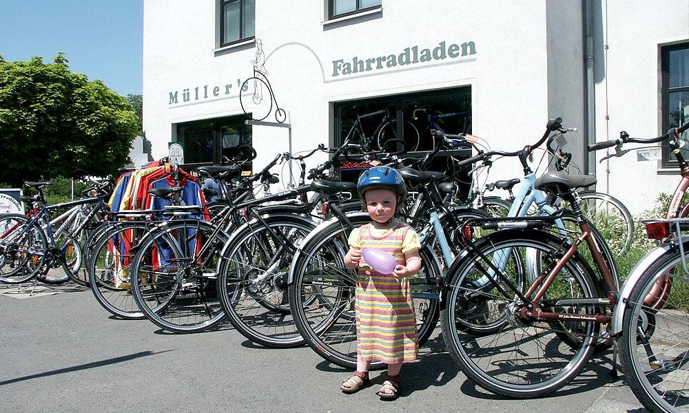 Ladengeschäft von vorn Müller Fahrradladen
