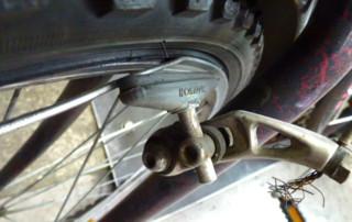 Defekte Fahrradbremse